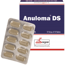 Anuloma DS 10 Tablets Sagar Pharma for Constipation Double Strength