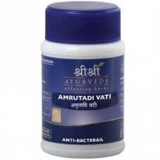 Amrutadi Vati 60 Tablets Sri Sri Ayurveda for Viral fever and Bacterial infections.