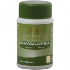 Ashwagandha 60 Tablets Sri Sri Ayurveda for anti Stress