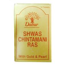 Shwas Chintamani Ras 10 Tablet Dabur