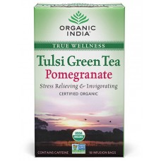 Tulasi Green Tea Pomegranate 18 Tea Bags Organic India